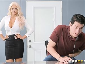 Nicolette Shea takes on Xanders gigantic ginormous hard-on