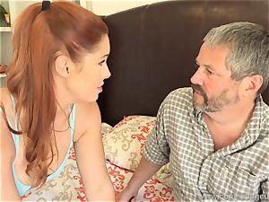 Edyn Blair plowed By phat dark-hued pink cigar spouse watches