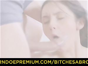 cocksluts ABROAD - Tourist Crystal Greenvelle loves double penetration