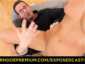 unveiled audition super hot minx with glasses boinked rock-hard