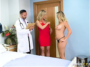 Brandi love and Brett Rossi get down to business with the physician