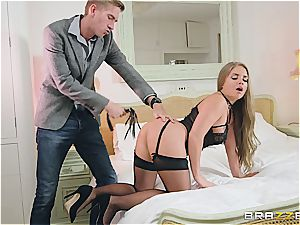 Alessandra Jane is a super-naughty maid and needs a spanking from sir D