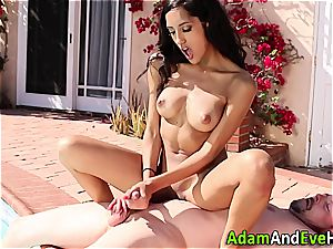 magnificent Latina draining her aroused boy