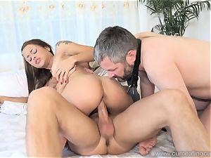 Holly Hendrix Cuckolds husband and Makes Him eat jism