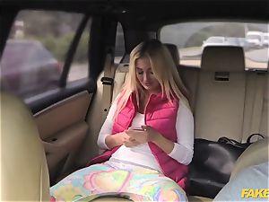 faux taxi ultra-kinky teen has outdoor orgy