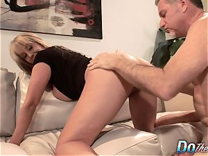 mind-blowing blondie milf romped supreme in front of her spouse