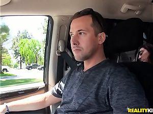 Monique Alexander blows a humungous man sausage in the car