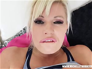 towheaded tramp Michelle Thorne stranger plow after jogging