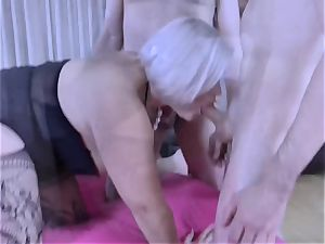 LACEYSTARR - hungry grandmother gangbanged