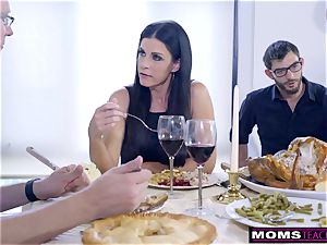 mommy drills son-in-law And munches internal cumshot For Thanksgiving treat