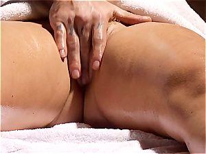 wild masseur makes Krissy Lynn jiggle after voluptuous enjoy making