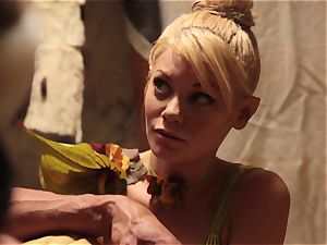 Riley Steele and Vicki chase in parody 3some
