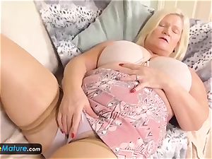 Europemature blond chubbies Lacey and Sami solo