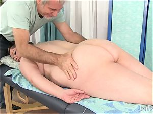 plumper Gets Her body, cooch and caboose touched