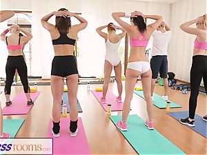 FitnessRooms After gym class sweat-soaked bang-out sessions