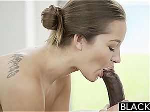 Darling Dani Daniels well-prepped to attempt out a dark-hued meatpipe inwards her