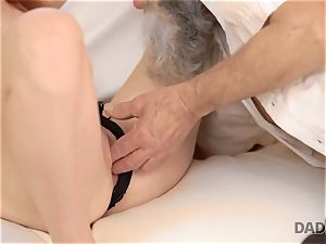DADDY4K. dirty man fingers gf for hotwife on him with mischievous parent