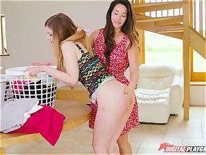 Eva Lovia, Stella Cox - I enjoy my neighbor's muddy panties and her hefty hooters