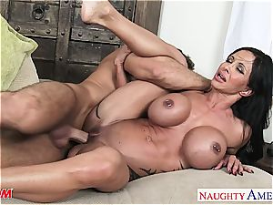sizzling mommy nubs Jade takes his thick swelling for a ride