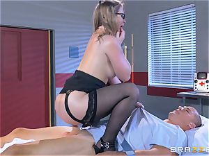 super-naughty medic Sunny Lane gets hold of her favourite patient