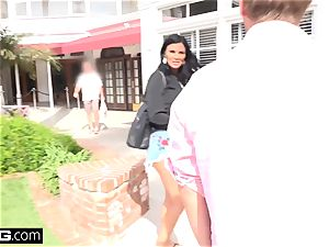 Jasmine Jae brings her fellow toy along for a point of view poking