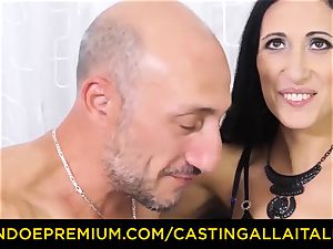 audition ALLA ITALIANA - muddy newcummer assfuck casting