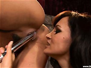 Alluring Charley pursue gets plaything fucked by Lisa Ann