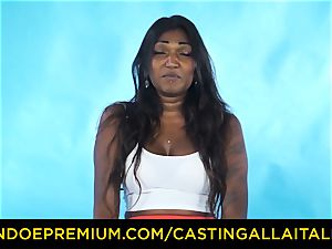 casting ALLA ITALIANA - Indian honey gets enormous man sausage assfuck