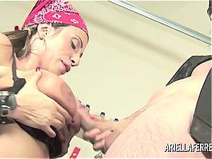 Biker romp with Ariella Ferrera