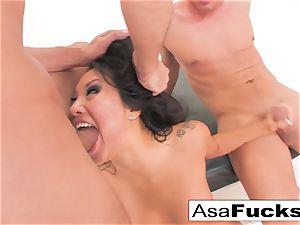 Asa Akira has a steaming anal invasion threeway