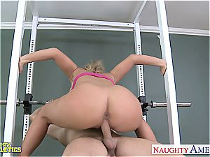 wondrous Phoenix Marie at the gym getting fucked