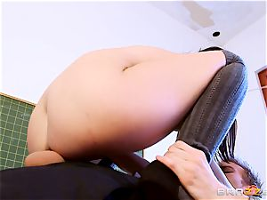 college girl Dolly Diore pounding her large dicked tutor