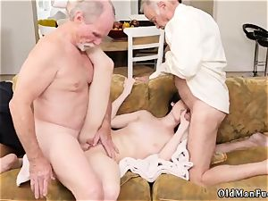 elderly mummy striptease and mom young patron crony Frannkie goes down the Hersey highway