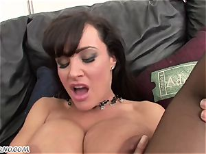 multiracial porno with mature ultra-cutie Lisa Ann with enormous fun bags