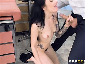 Marley Brinx gets her beaver deeply studied at the doctors