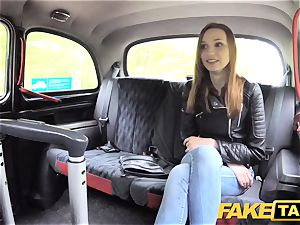 fake cab slender red-haired likes tough romp