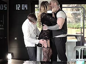 jaw-dropping lingerie honey Anna Polina gets humped