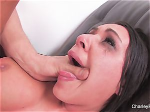 dark haired sweetheart Charley gets a raunchy fucking