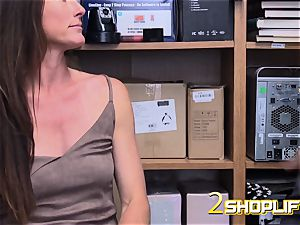 scorching cougar Sofie is wrecked by naughty officers loaded prick