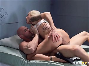 Nina Elle drills a fantastic con in front of her cuckold hubby