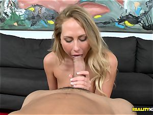 Carter Cruise gets her throat obese a monster
