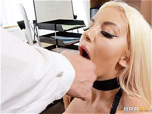 Nicolette Shea gets her concentration inspected in this super-steamy interview