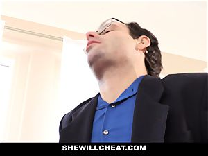 SheWillCheat - Latina wifey Creampied By big black cock