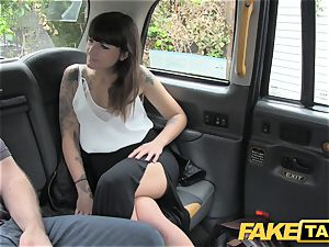 fake taxi brown-haired does buttfuck down to the nutsack