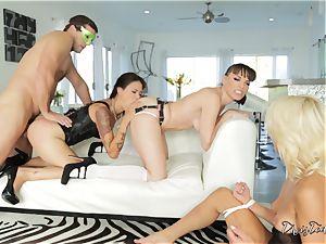 xxx vagina thrashing act with trio ultra-kinky honeys