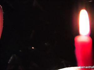 insane candle fun with Samantha Saint
