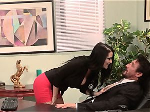 assistant Katrina Jade humps her steaming chief at work