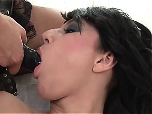 Emylia finds a substitute cock for Valentina's raw snatch