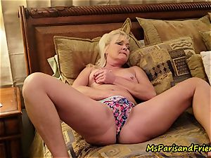 mommy Plays with Herself The Has piss urinate play Time