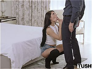mexican beauty grants good looking dude access to her butt